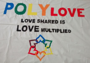 plakat love shared is love multiplied